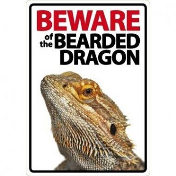 Beware Of The Bearded Dragon Sign